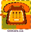 Vector Clipart graphic  of a telephone