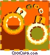 Vector Clipart image  of a handcuffs