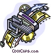 Vector Clipart graphic  of a tools of technology and