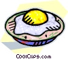 Vector Clip Art graphic  of a fried egg