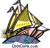 Sailing ship Vector Clipart graphic