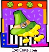 Vector Clipart illustration  of a leprechaun's hat with gold