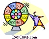 Vector Clipart image  of a wheel of chance