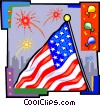 Independence Day celebration Vector Clip Art graphic