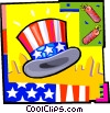 Vector Clipart image  of a Independence Day celebration