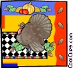 Vector Clip Art graphic  of a Thanksgiving turkey