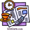 Vector Clipart picture  of a breakfast motif