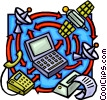 Vector Clip Art image  of a communications
