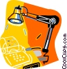 desk lamp Vector Clip Art picture