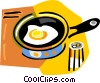 fried egg Vector Clipart picture