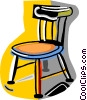 Vector Clip Art picture  of a wooden chair