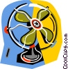 Vector Clipart image  of a electric fans