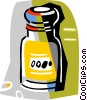 spice bottle Vector Clipart illustration