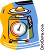Vector Clip Art image  of a kitchen scale