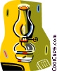 Vector Clipart illustration  of a oil lamp