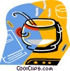 Vector Clipart image  of a soup pot