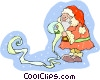 Vector Clipart graphic  of a Christmas