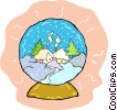 Vector Clip Art graphic  of a snow globe
