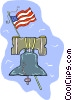 Vector Clip Art image  of a liberty bell