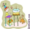 birthday celebration Vector Clipart picture