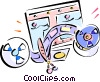 film editing Vector Clip Art picture