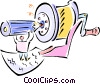 Vector Clip Art graphic  of a pencil and pencil sharpener