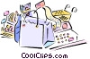 grocery shopping Vector Clipart picture