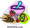 Vector Clip Art image  of a homemade medicine