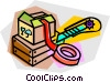 Vector Clipart graphic  of a packaging material