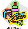 Vector Clip Art image  of a toiletries