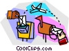 Vector Clip Art picture  of a postal service