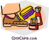 shoe shine Vector Clipart graphic