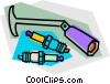 Vector Clipart picture  of a spark plug wrench and park