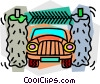 Car wash Vector Clipart image
