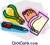 pedicure Vector Clipart illustration