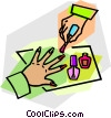 Vector Clip Art picture  of a finger nails