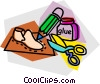 Vector Clip Art image  of a shoe repair