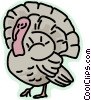 Vector Clip Art image  of a Wild turkey