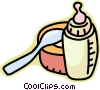 Vector Clip Art image  of a baby bottle