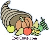 cornucopia Vector Clipart illustration
