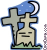 Vector Clipart graphic  of a gravestone