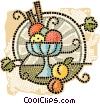 Vector Clipart picture  of a fruit bowl