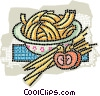 Vector Clipart graphic  of a pasta with tomato