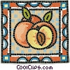 Vector Clip Art graphic  of a Sliced peaches