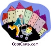 shopping for a new home Vector Clip Art picture