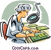 Computer technician Vector Clip Art picture