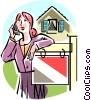Vector Clipart graphic  of a Real estate agent on the