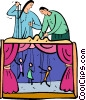 puppet show Vector Clipart image