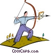 Vector Clip Art picture  of an archery