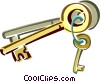 key chain Vector Clip Art picture